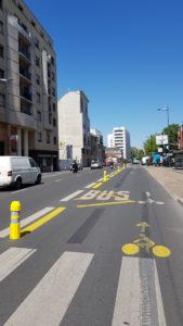 Nouvelle piste cyclable à Clichy
